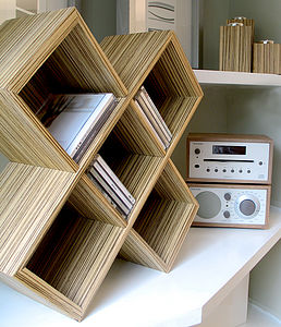 Cube CD Rack - shelves