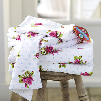 PiP Studio Roses & dots towel white