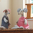 Handmade Linen and Liberty Toy Mouse