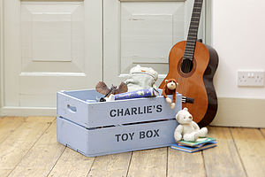 Personalised Crate - Blue Toybox