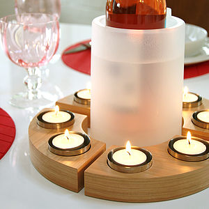 Set of Four Curved Tea Lights - lighting