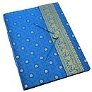 Extra large sari photo album blue
