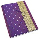 Extra large sari photo album purple