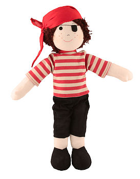 Boys Rag Dolls - Knight/Cowboy/Fireman/Pirate