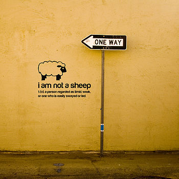 I am not a sheep wall sticker