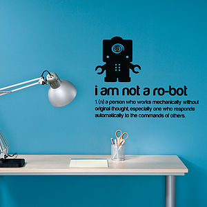 I am not a robot Wall Sticker