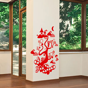Forest Tree Creatures Wall Sticker - wall stickers