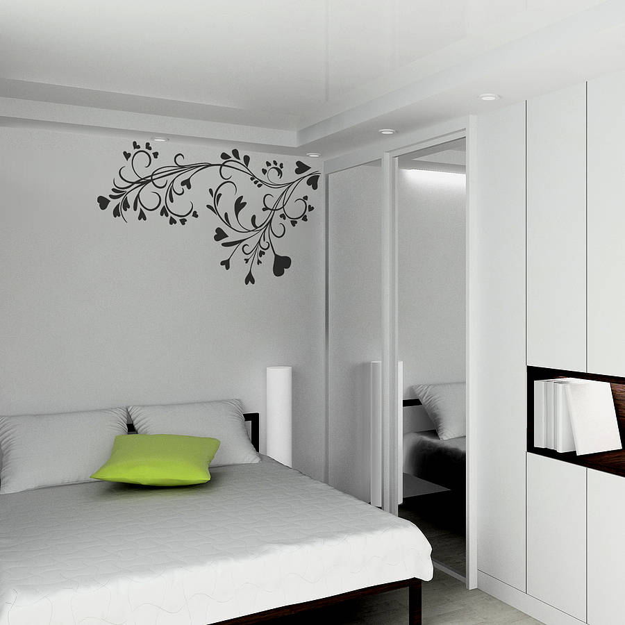 Baroque flower wall sticker by spin collective - Simple design of wall ...