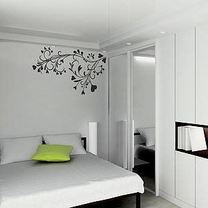 Baroque Flower Wall Sticker - home decorating
