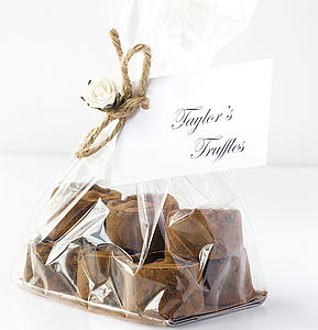 Handmade Mint Chocolate Truffles Gift Bag