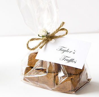 Handmade Ginger Chocolate Truffles Gift Bag