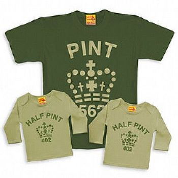 'Pint' and 'Half Pint' Trio Set Long Sleeve