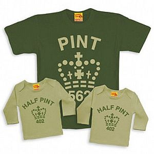 Matching Pint And Half Pint Trio Set For Dad And Child - shop by category