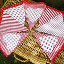 Red Gingham And Heart Bunting