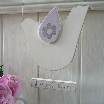 Personalised Hanging Dove Sign