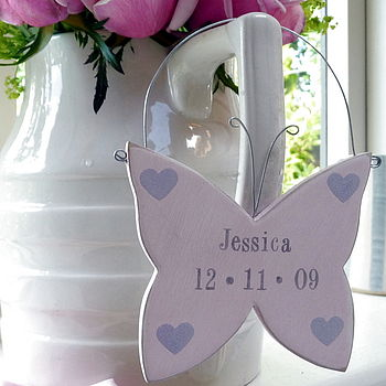 Personalised Hanging Butterfly