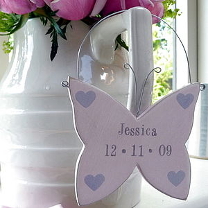 Personalised Hanging Butterfly - gifts for babies