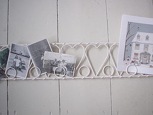 Heart Card Photo Holder - hooks, pegs & clips