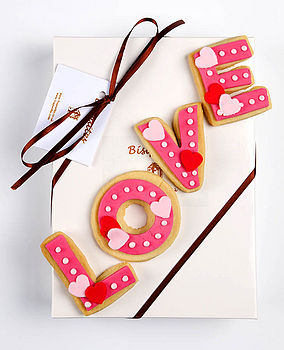 Homemade Shortbread Love Biscuit Gift