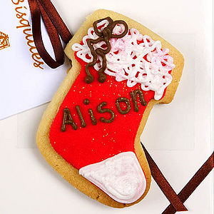 Personalised Christmas Stocking - biscuits