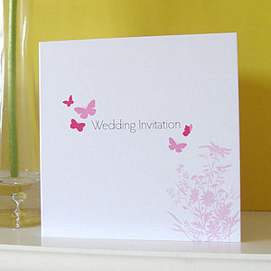 Butterfly Wedding Stationery Collection - invitations