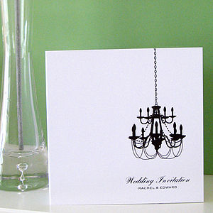 Chandelier Wedding Stationery Collection - place cards