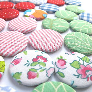 Set Of Six Fabric Magnets - kitchen