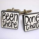'Been There Done That' Cufflinks