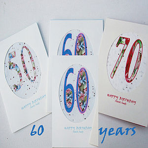 Age Birthday Seed Cards - 60