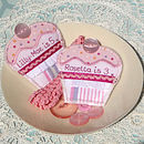 Personalised cupcakes brooches