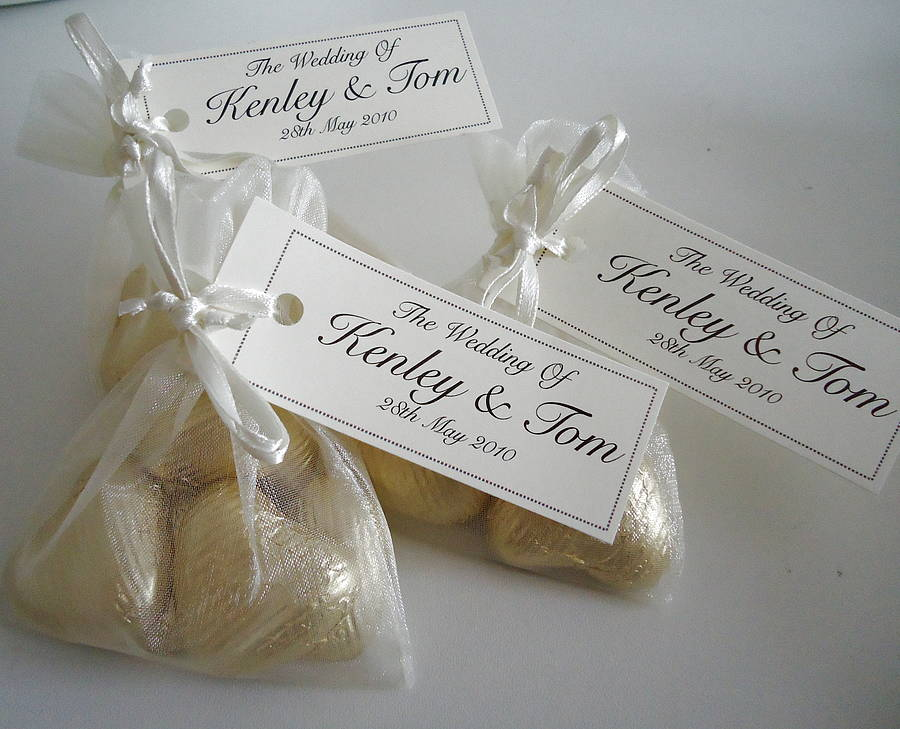 20 Wedding Favour Organza Bags By Tailored Chocolates And Gifts