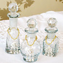 Set of Three Perfume Bottles