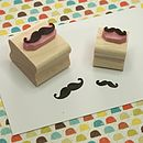 Pair Of Mini Moustaches Hand Carved Rubber Stamps
