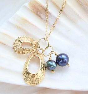 Pearl And Shell Charm Necklace - necklaces & pendants