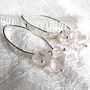 Morocco Earring Silver with Madagascan Rose Quartz