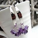 Morocco Silver Earrings with Amethysts