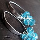 Morocco Silver Earrings in Caribbean Aqua Apatite