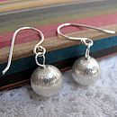 Bauble silver earrings