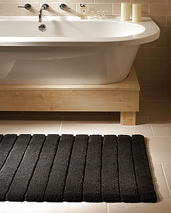 Bamboo Lined Bathmats - bathroom