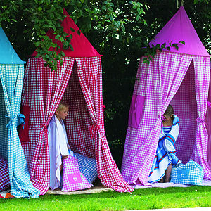 Hanging Gingham Playtent - tents, dens & wigwams