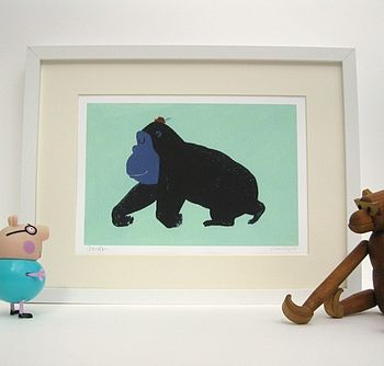 Gordon the Gorilla Fine Art print