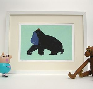 Gordon the Gorilla Fine Art print - canvas prints & art for children