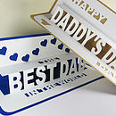 Personalised Pop Up  Happy Father's Day Card