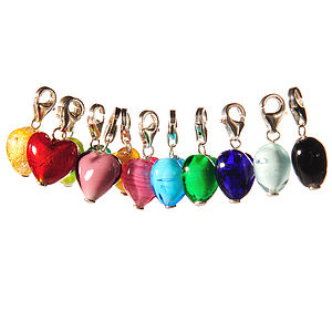 Murano Glass Heart Charm
