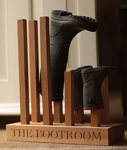 Personalised Boot Rack - gardener