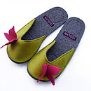 Butterfly slipper olive