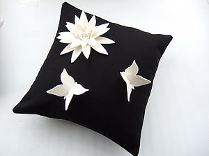 Butterfly Lily Cushion - living room