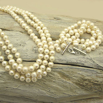 Pearl Audrey bracelet and necklace