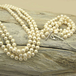Pearl Audrey bracelet and necklace - jewellery