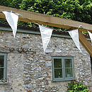 Recycled vintage style bunting in the garden